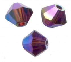 TOUPIES SWAROVSKI® ELEMENTS 4 mm AB2X  BURGUNDY AB2X / 50 perles