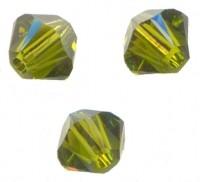TOUPIES SWAROVSKI® ELEMENTS <br /> 4 mm<br /> OLIVINE<br /> X 50