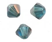 TOUPIES SWAROVSKI® ELEMENTS <br /> 4mm<br /> INDICOLITE satin<br /> 50 perles