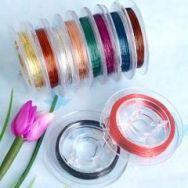 Fil Câble élastique couleur 10 metres diamètre<br />  0.3 mm