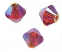 TOUPIES SWAROVSKI® ELEMENTS  6 mm   INDIAN RED AB2X  X 20 perles