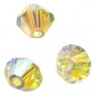 TOUPIES SWAROVSKI® ELEMENTS  6 mm   JONQUIL AB2X  X 20 perles