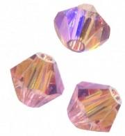 TOUPIES SWAROVSKI® ELEMENTS  6 mm   LIGHT ROSE AB2X  X 20 perles
