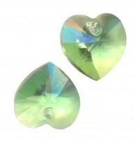 COEURS SWAROVSKI® ELEMENTS  ( 6228 ) 10.3 X 10 PERIDOT X 6