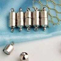 Fermoir Aimant Magnétique Argent 19 x 5mm pour Collier Qte = 5