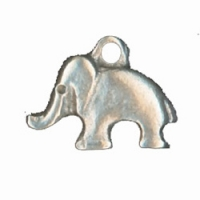 BRELOQUES ELEPHANT  ARGENT ~14X18MM X 2