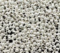 Perles Intercalaires Lisses Rondes Argentées 2mm X 3000