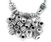 Perles intercalaires en CCB plastique pr Bracelet X 10