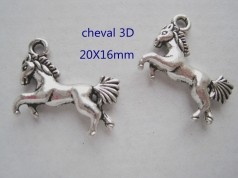 Breloque cheval 3D  20 x 16