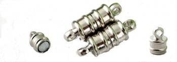 Fermoir Aimant Magnétique Argent 18 x 6mm pour Collier Qte = 5