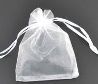 Pochettes cadeau Organza Blanc 160x130 mm X 5