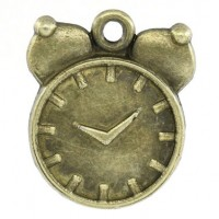 Pendentifs breloques Réveil Bronze 21x17mm   Qte : 2