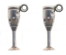 BRELOQUE COUPE CHAMPAGNE ( 3 D ) 20 X 6 mm Qte : 2