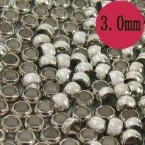 Intercalaires,perles à écraser argentées  3mm<br /> Qte : 100