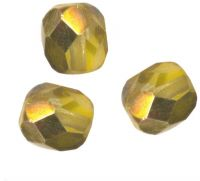 PERLES FACETTES DE BOHEME  6mm AB 25 perles CRYSTAL OR
