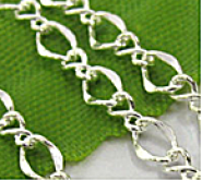 Chainette maille  argent ep: 3 mm 1 metre