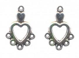 Breloques coeur anneau argent 20 x 10 Qte : 2
