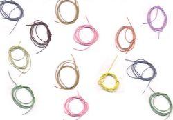 Coton ciré Ø 1 mm et cordon cuir<br /> Voir toutes les couleurs