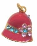 Breloques émaillées chapeau18 x 15 Qte : 2