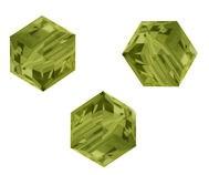 Perles cubes Swarovski 4 mm ( 5601 ) Khaki X 8