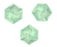 Perles cubes Swarovski 4 mm ( 5601 ) Pacific opal X 8