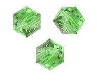 Perles cubes Swarovski 4 mm ( 5601 ) Peridot X 8