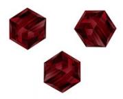 Perles cubes Swarovski 4 mm ( 5601 ) Siam X 8