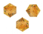 Perles cubes Swarovski 6 mm ( 5601 ) Topaz X 1