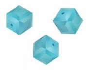Perles cubes Swarovski 6 mm ( 5601 ) Turquoise X 1