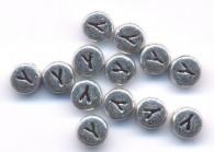 20 Perles intercalaires Lettre Y Acrylique Argenté 7x7mm