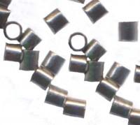 Perles à écraser Tube Noir 1.5x1.5mm  Qte : 100