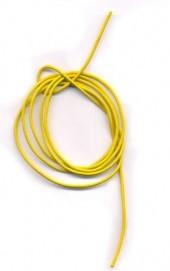 Cordon cuir diametre 1.5 mm jonquil Qte : 1 metre