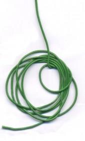 Cordon en Cuir véritable Vert 1.5mm  Qte : 1 metre