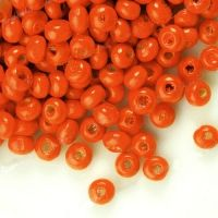1400 Perles en bois Rondes orange 3x4mm