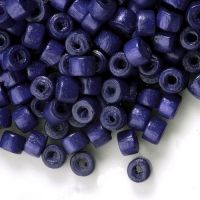 1400 Perles en bois Donut violet 3x4mm