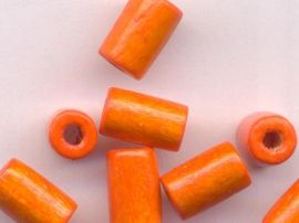 450 Perles en bois Tube orange 8x5mm
