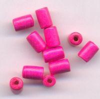 450 Perles en bois Tube rouge  8x5mm