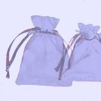 Pochettes Cadeau organza bleu clair 120x90mm X 5