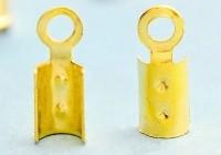 Embouts pince Doré 2 x 2.5 mm  Qte : 20
