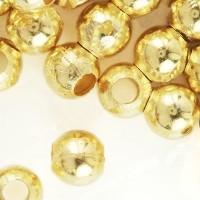 Perles à écraser Doré 6x6mm Qte : 20