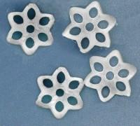 Calotte Coupelles  Fleur Gris Argenté 1.5x9.5mm  Qte : 10