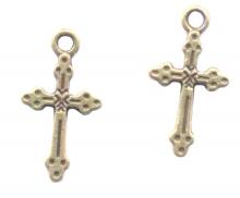 Breloque Croix en bronze  21 x 11.5mm  Qte : 2