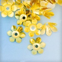 Calotte Fleur Doré 13x13mm  Qte : 10