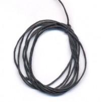 Cordon en Coton Ciré Noir 1mm Noir  1 metre