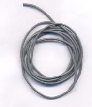 Cordon en Cuir véritable  Gris 1.5mm  Qte : 1 metre