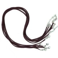 Cordon cuir marron Suède  47cm  Qte : 1