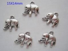 Breloques éléphant  15 x 14 X 2