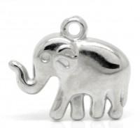 Breloques plastique éléphant pendants  24mmx21mm  X 10