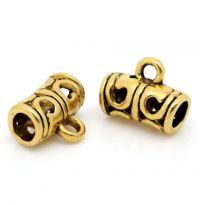 Pendentifs Perles Cylindre Filigrane 11x9mm  Qte : 2