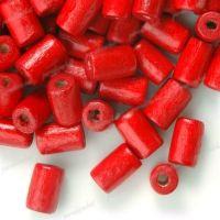 450 Perles en bois Tube rouge 8x5mm  taille du trou = 1.6 mm